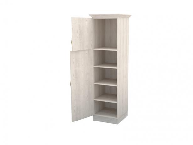Шкаф из массива 1-но створчатый Эдем беленый дуб