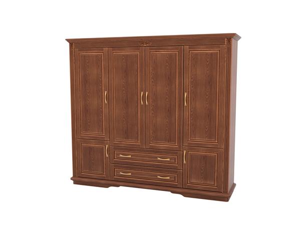 Шкаф из массива 4-х створчатый Палермо  с ящиками орех