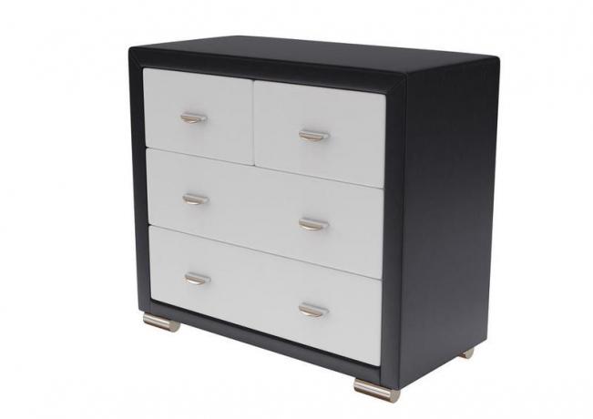 Комод Orma Soft 2 4 ящика черно-белый