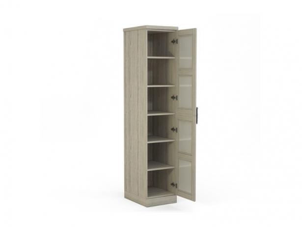 Недорогой шкаф распашной из массива 1-но створчатый Парма беленый дуб