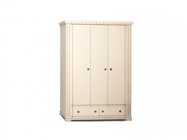 Купить шкаф трехдверный распашной с фрезеровкой