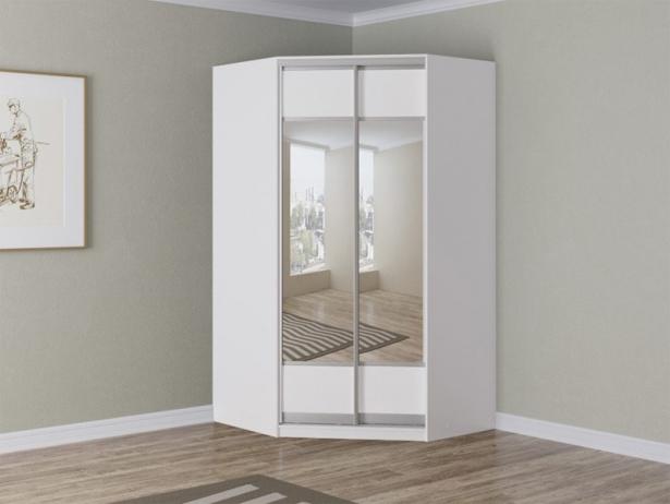 Купить белый шкаф угловой Como/Veda зеркальный croco