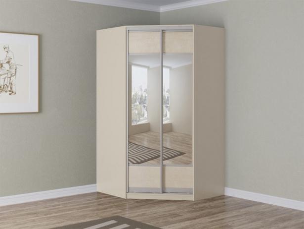 Купить светлый шкаф угловой Como/Veda зеркальный жемчуг
