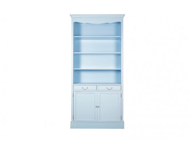 Голубой шкаф Leontina для посуды