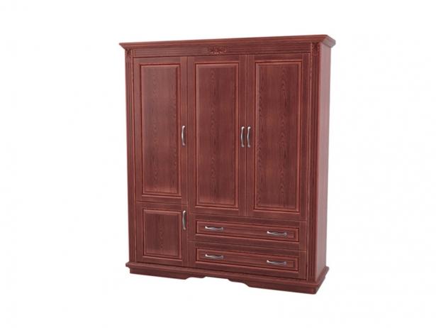 Шкаф из массива 3-х створчатый Палермо  с ящиками каштан