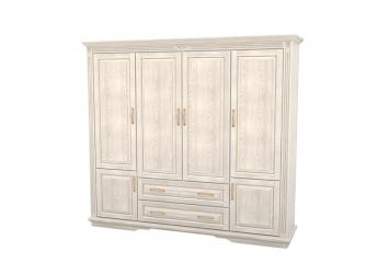 Шкаф из массива 4-х створчатый Палермо  с ящиками
