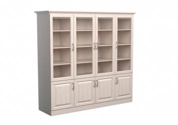 Шкаф-библиотека Эдем 4х створчатый